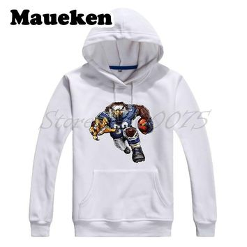 Men Hoodies Strong Sinister Seahawk Sweatshirts Hooded Thick for Seattle fans gift Comic Cartoon Winter W17112917