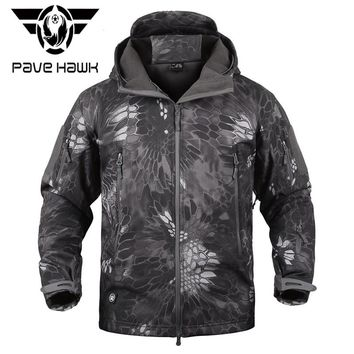 MANDRA Night Camo V5 Soft Shell Tactical Military Jacket Men Waterproof Winter Fleece Coat Army Clothes Camouflage Jackets