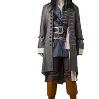 Captain Jack Sparrow Costume Pirates of the Caribbean Cosplay  Revenge Suit