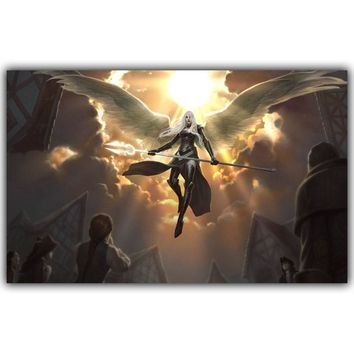 Magic The Gathering Swords Angels Game Hot Artistic Silk Fabric Poster Print 30x48cm 50x80cm Picture Home Decor