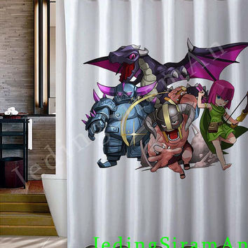 Clash of Clans characters 1 Shower Curtain