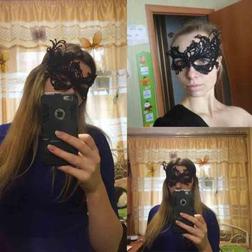2018 Factory Direct Sale New Style Black Ladies Sexy Lace Mask Easter Party European And Halloween American Sexy Lace Mask