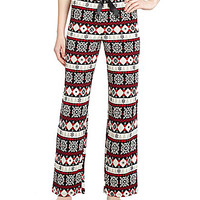 Sleep Sense Petites Fairisle Pajama Pants
