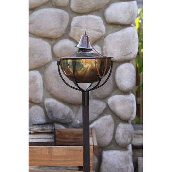 Starlite Garden & Patio Torche 1204-CB Tiki Copper Burn Oil Pole Torche, Set of Two