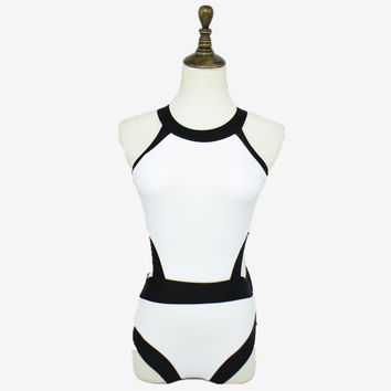 One Piece Backless Swimwear Sexy Bandage High Cut Monokini Swimsuit For Women Bodysuit Bathing suits Beach Wear