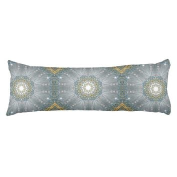 """girly Silver blue Sequins Diamond sparkles bling Body Pillow ( 20"""" x 54"""")"""