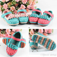 Free Shipping Children Shoes Girls Faux Leather Breathable Kids Casual Flower With Bow Girls Flats Single Shoes Size 26-30 VY0006 salebags