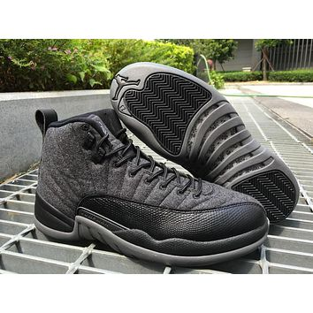 Air Jordan 12 Wool Aj 12 Retro Men Basketball Shoes | Best Deal Online