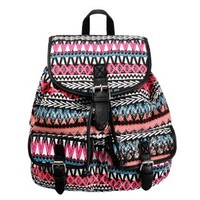 ZLYC Womens Teen Girls Vintage Boho Allover Ethnic Pattern Casual Backpack Daypack School Book Bag Tote Multi