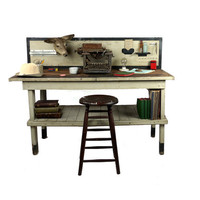Antique Industrial Draftsman Workbench Table by DailyMemorandum