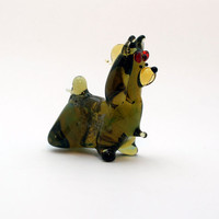 Glass York Glass Dog Glass Animal Sculpture Glass Figurine Glass Figure Glass Animals Glass Figurines Glass Figures Dog(14)