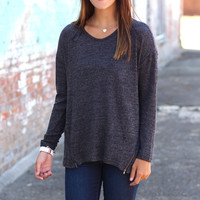 Zip-A-Dee-Do-Dah Sweater {Black}