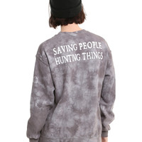 Supernatural Saving People Hunting Things Tie Dye Girls Sweatshirt