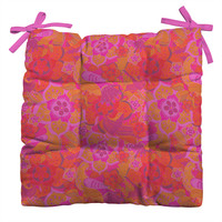 Aimee St Hill Pink Birds Outdoor Seat Cushion