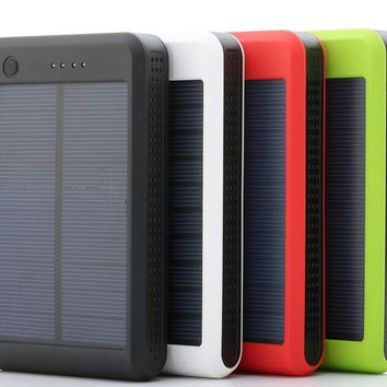 Fashion 600000mAh Portable Solar Power Bank Dual USB LED Backup Charger Battery