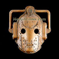 Steampunk Dr Who Copper Cyberman Helmet Paper  Giclee by kyoob