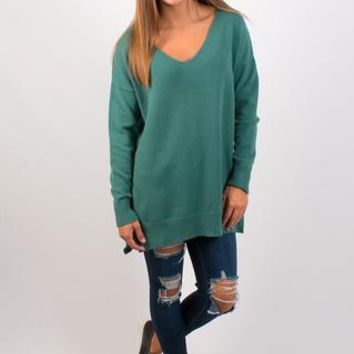 Backyard Bonfire Sweater - Dark Sage