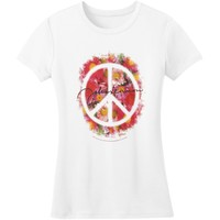 Beatles  John Lennon Peace Junior Top White