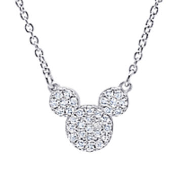 Mickey Mouse Icon Necklace by CRISLU - Platinum