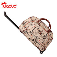 fashion trolley bags waterproof bag women's large-capacity bags PU leather unisex wheel luggage bag excursions Suitcase Sac