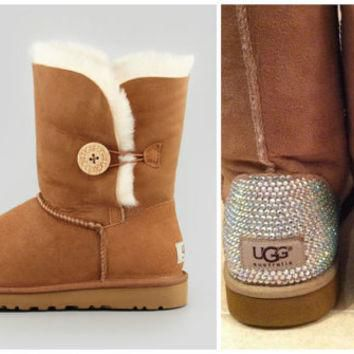 Swarovski Crystal Embellished Bailey Button UGG Boots - Winter/Holiday 2013