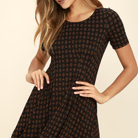 RVCA Sylas Black Print Dress