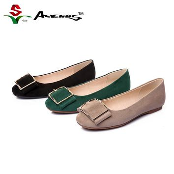 Anvenus Women Flat Shoes Winter Female Ballerina Ladies Genuine. Item Type   Flats ... 1a02a9694496