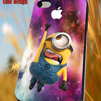 Minion apple on galaxy for iPhone 4/4S/5/5S/5C Case, Samsung Galaxy S3/S4/S5 Case, iPod Touch 4/5 Case