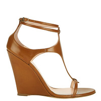 Giuseppe Zanotti Taline T-Strap Wedge at INTERMIX | Shop Now | Shop IntermixOnline.com