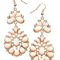Opaque Stone Flower Earring | Wet Seal