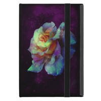 Turquoise n Yellow w/Violet Rose iPad Mini Case