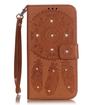 Dream Catcher & Mandala Leather Iphone Samsung cases