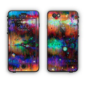 The Neon Paint Mixtured Surface Apple iPhone 6 LifeProof Nuud Case Skin Set