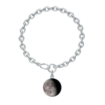 Personalized Moon Phase Silver Aurora Bracelet