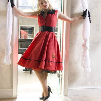 Cute Red Pinup dress by TicciRockabilly on Etsy