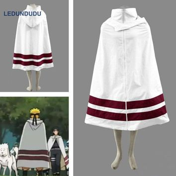 Naruto Sasauke ninja Japan Amime  Cosplay Costumes  Leaf Village Cloaks with Hat Women Men Party Robes Coat for Halloween AT_81_8
