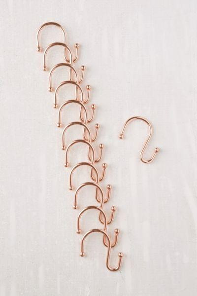 Copper Shower Curtain Hooks