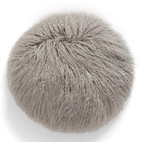 Faux Fur Accent Pillow