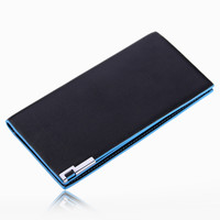 Mens Long Casual Leather Fashion Card Holder Bifold Wallet