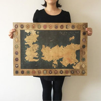 Game of Thrones old style map