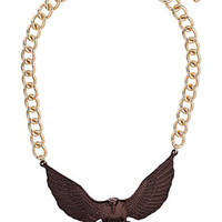 Bronze Eagle Collar Necklace - Jewelry  - Bags & Accessories