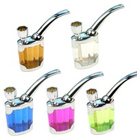 Water Smoking Tobacco Pipe Cigarette Cigar Tube Holder Hookah Filter Smoke Tar h