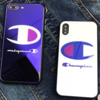 The Champion blue iPhone X 8 covers the iPhone7 and iPhone7 plus 6s 6p soft shell