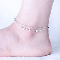 DCCK0OQ Shiny Stylish Jewelry Gift Sexy Ladies Cute New Arrival Bells Double-layered Classics Innovative Anklet [10427400340]