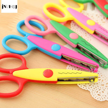 JWHCJ lace DIY Scissors Scrapbook Paper Photo Tools Diary photo album Decor children handmade Safety Scissors Free shipping