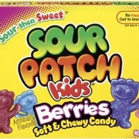 Sour Patch Kids Candy, Berries, 3.1-Ounce (Pack of 12)