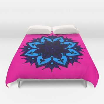 Kids Mandala  Duvet Cover by Azima