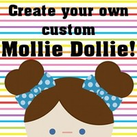 The Mollie Shop | Mollie Dollie - PICK YOUR COLORS - cloth doll | Online Store Powered by Storenvy