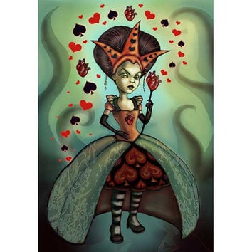 Levin Queen of Hearts Art Print by Artist Diana Levin
