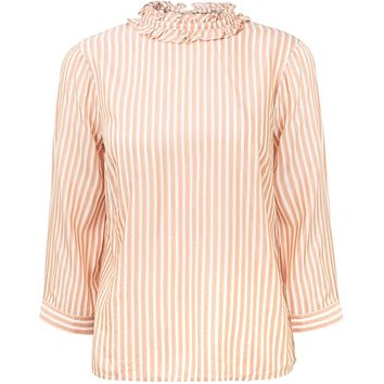 Rikona Striped Frill Shirt | Oliver Bonas
